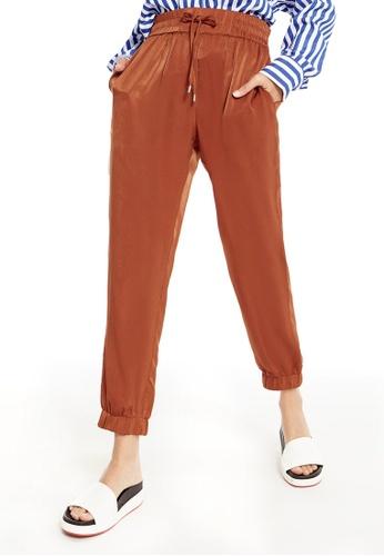 Pomelo orange Lexia Cuffed Pants 12D35AA39199A3GS_1