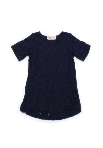 Mini Moley navy Floral Lace Girl's Shift Dress 8F259KA7E41B10GS_1