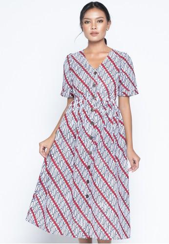 KICHI BATIK navy Batik Dress Kyomi 6E464AA7CD825AGS_1