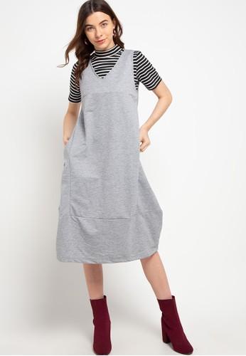GRAPHIS grey Overall Knitt 605DBAA8B4D7B3GS_1