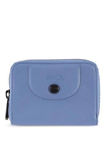LONGCHAMP blue Le Pliage Cuir Card Holder (zt) 8E909AC31B71F8GS_1