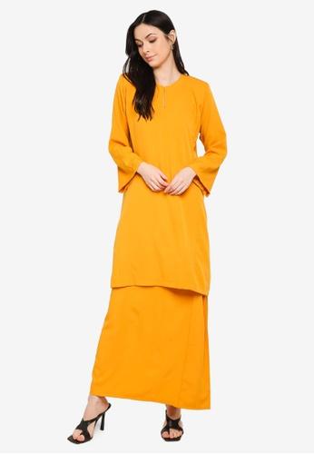 Butik Sireh Pinang yellow Baju Kurung Pahang Salimah 1CA91AAD6EED01GS_1