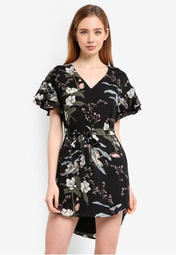 ZALORA black Ruffle Tunic Dress AC0D2AA774B443GS_1