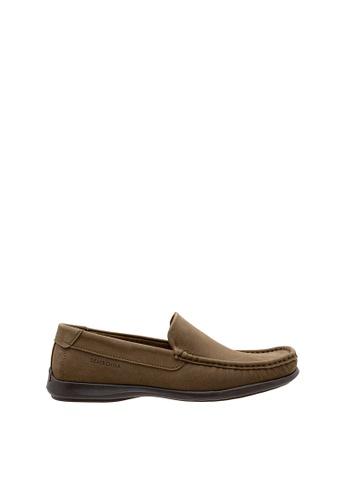 SEMBONIA brown Men Nubuck Leather Loafer D3478SH2EF590BGS_1