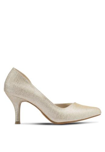 Christy Ng gold Cynthia Pewter Glitter Heels CH330SH0SPLXMY_1