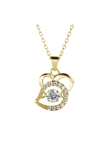 Her Jewellery gold 12 Dancing Zodiac Pendant (Rat) YG - Made with premium grade crystals from Austria 0ED33AC4AB8CDBGS_1