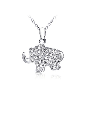 Glamorousky silver 925 Sterling Silver Elephant Pendant with Necklace 39CFAAC3CB0132GS_1