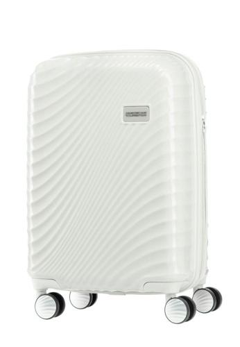 American Tourister white Erie Spinner 55/20 Tsa 52236AC108F299GS_1