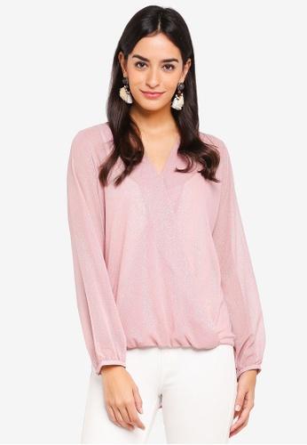 Wallis pink Pink Twinkle Wrap Top 0C7BEAA36C7A24GS_1
