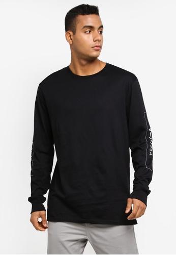 Cotton On 黑色 長袖印花T恤 F85D5AA3C20F72GS_1