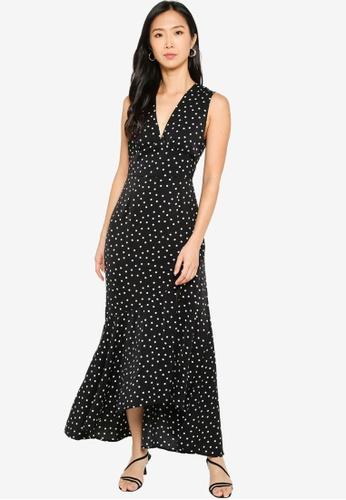 ZALORA BASICS 多色 Sleeveless Hi-Low Midi Dress 2AEF1AA8106CA5GS_1