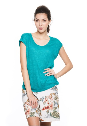 United Colors of Benetton green Round neckline T-shirt 60D95AABE8792AGS_1