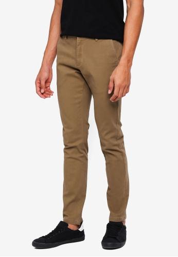Electro Denim Lab 褐色 Tight Fit Elastane Chinos 45491AA318F9B9GS_1