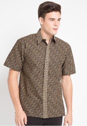 Batik Indra Loka brown Short Sleeve Shirt Arra B6270AAD5ECD7AGS_1