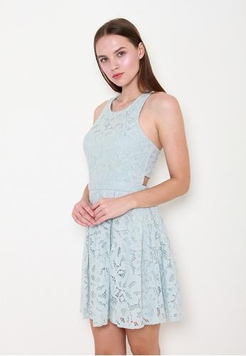 Leline Style blue Claire Lace Dress EBF5EAA3D29145GS_1