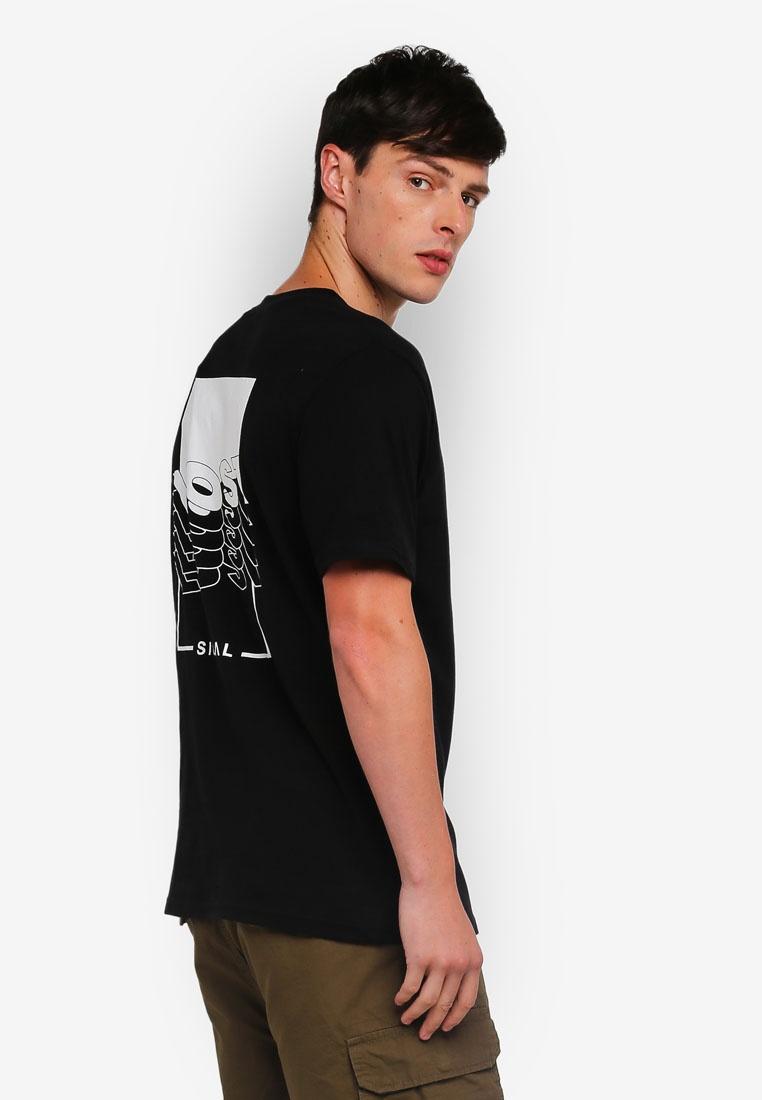 Short Shirt T Black Lost Graphic Sleeve Factorie arxaHA