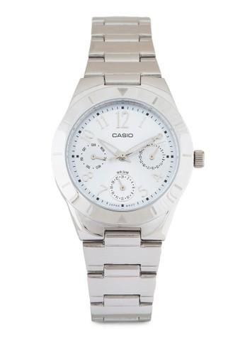 LTP-2069D-2A2VDF 多功能不銹鋼數字錶, 錶類, 不銹zalora 評價鋼錶帶