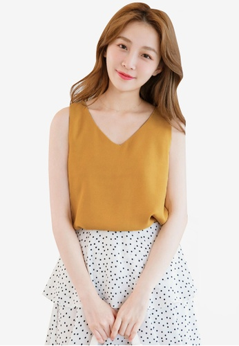 Eyescream yellow Minimalist Cross Back Top 62544AA7FB7712GS_1