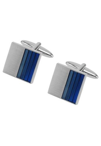 CUFF IT blue Gradient Blue Enamel Cufflinks CU047AC2UQ99HK_1