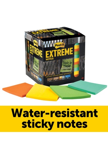 Post-IT 3M Post It Extreme Notes 3 in x 3 in Mint/Yellow/Orange/Green Colors (45 Sheets/Pad - 12 Pads/Pack) [12TRYX] 26DB0HL8E0376DGS_1