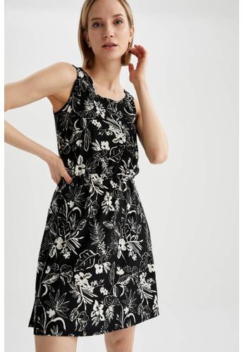DeFacto black Sleeveless Mini Dress 98DC3AA2DF5EBAGS_1
