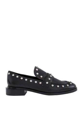eq:iq black eqEDDIE Pearl Embellished Loafers EQ351SH0FJVYSG_1