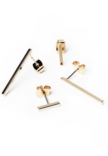 Gung Jewellery gold Sleek Bar Gold Earring 02121AC27E0E4CGS_1