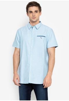 7b9bf0c9ff0c REGATTA blue Oxford Shirt with Contrast Trim FBD64AA4EB404CGS 1