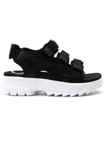 Crystal Korea Fashion black Korean Summer Sticky Notes Comfortable Shock Absorption Sandals 58B02SH6BF975FGS_1