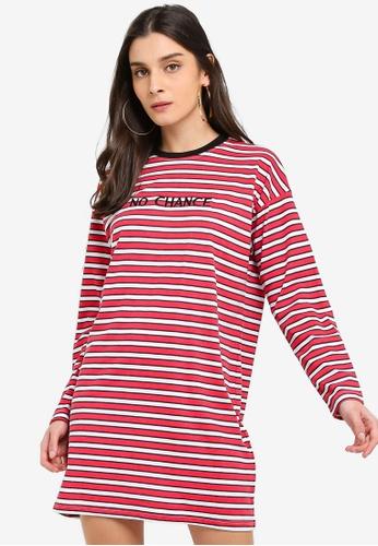 MISSGUIDED red Oversized T-Shirt Dress BCE63AA9B73672GS_1