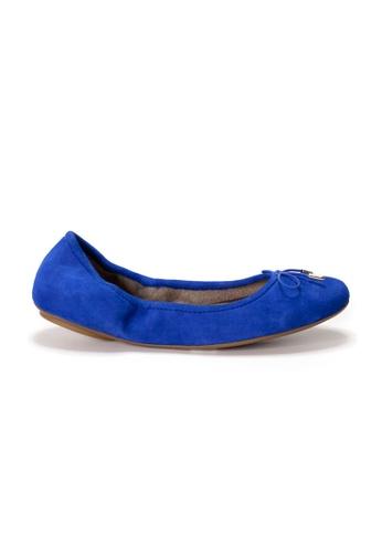 Shu Talk blue AMAZTEP New Comfy Bow Ballerina Ballet Flats in Blue EE537SHFF25B4DGS_1