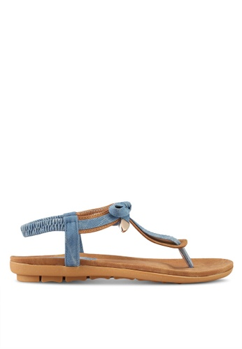 Mimosa blue Sling Back Sandals EB3DBSH70DC20BGS_1