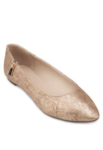 側拉鍊尖頭平esprit outlet 高雄底鞋, 女鞋, 芭蕾平底鞋