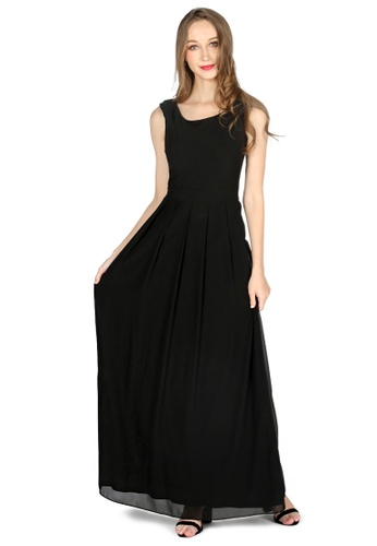 London Rag black Black Chiffon Maxi Dress 717D0AA56F3F29GS_1
