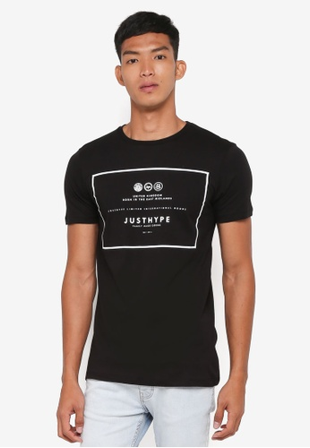 Just Hype black Royal T-Shirt 78600AA35AD8ADGS_1