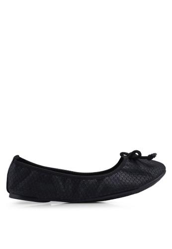 Carlton London 黑色 蝴蝶結平底鞋 3F21ASH292550EGS_1