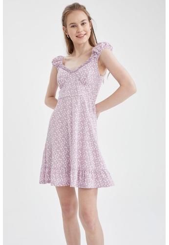 DeFacto purple Sleeveless Mini Dress 541FCAAB11AB9CGS_1