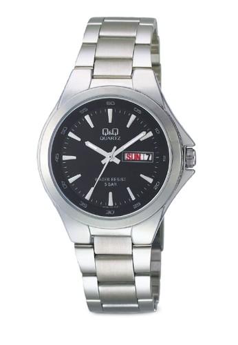 Q&Q A164-202Y 日期鍊錶,esprit 旺角 錶類, 不銹鋼錶帶