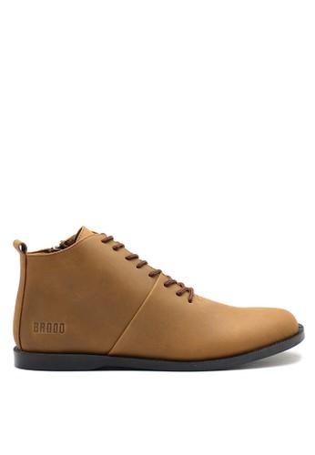 Brodo brown BRODO - Sepatu Pria Signore EZ Choco Tan Black Sole 93212SH15DA3B7GS_1