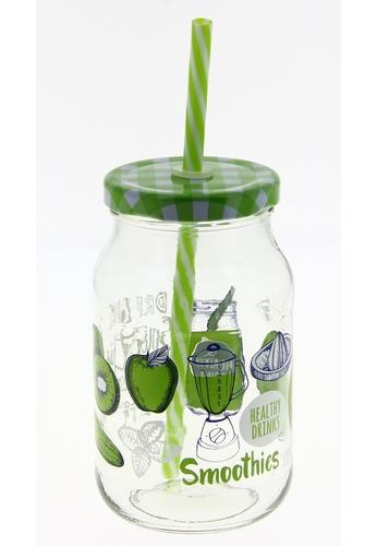Cerve Cerve 450ML 6 Pcs Frulli Glass Lid Tumbler / Tumbler Set - Green / Red / Yellow 85600HLECE9CBAGS_1