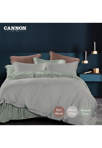 CANNON MADISON & CO. Marco - Devoi Mineral Gray (Fitted Sheet Set). 46717HLBFA0774GS_1