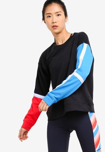 Cotton On Body black and blue Long Sleeve Terry Crew Top DB0DCAADDB2BF5GS_1