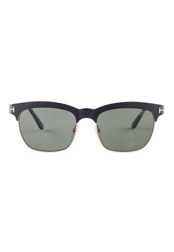 debf9d7a35551 Tom Ford black TOM FORD Elena Browline Black Polarized Sunglasses TF437  TO545AC86JIBMY 1
