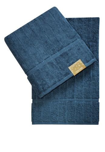 Cotton Fields blue Cotton Fields Bath Towel Stripes 254D6HL8E44748GS_1