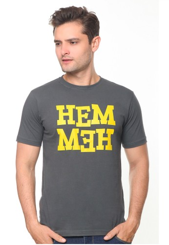 HEMMEH grey T-Shirt Grey Hemmeh F8FAEAABE9D742GS_1