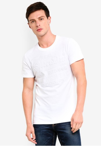 Superdry white Vintage Authentic Embossed Tee 8C0E7AAB9965EDGS_1
