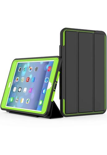 MobileHub black and green iPad Mini 4 Extreme Hybrid Shockproof Case 74261AC67E8C42GS_1