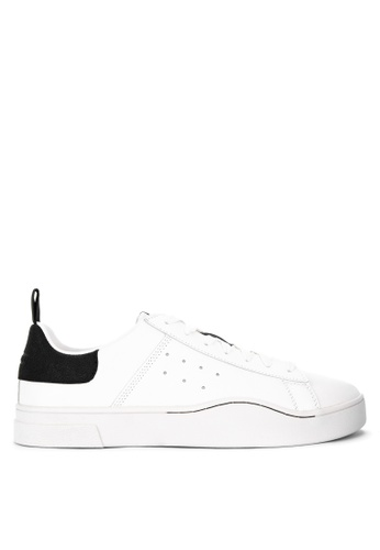 Diesel black and white S-Clever Low Sneakers FF83CSH84948E0GS_1