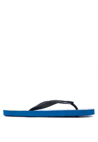 BENCH blue Printed Rubber Slippers BE550SH19MAUPH_1
