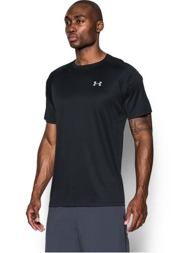 Under Armour black HeatGear® Run Short Sleeve T-Shirt 20C61AA40ADBDFGS_1
